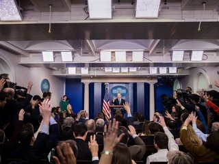 Reporter livestreamed White House briefing