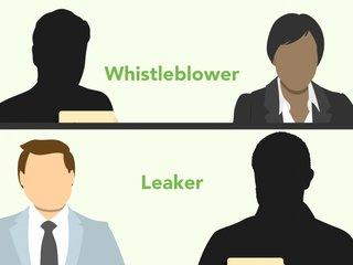How is whistleblowing different from leaking?